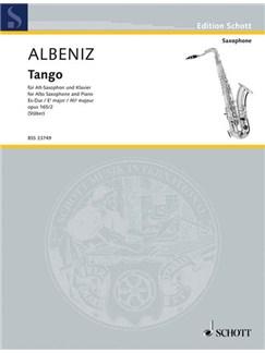 Isaac Albéniz: Tango Op. 165 Nr. 2 Books | Alto Saxophone, Piano