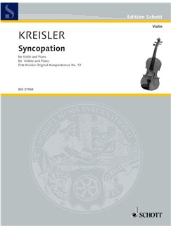 Fritz Kreisler: Syncopation Books | Violin, Piano