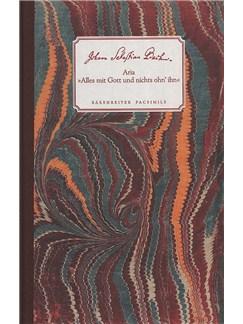 J.S. Bach: Alles Mit Gott Und Nichts Ohn'ihn BWV 1127 (Facsimile) Books and CDs | Soprano, String Ensemble