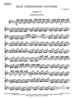G.F. Handel: Four Coronation Anthems (Violin 1) Books | Violin