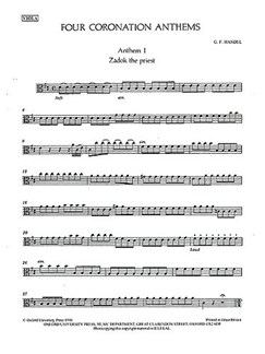 G.F. Handel: Four Coronation Anthems (VLA) Books | Viola