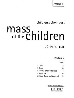 John Rutter: Mass Of The Children (Children's Choir Part) Books | Treble, Piano Accompaniment