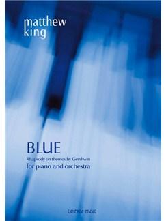 Matthew King: Blue (Full Score) Books | Piano, Orchestra
