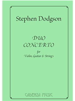Stephen Dodgson: Duo Concerto For Violin, Guitar & Strings (Score) Books | Violin, Classical Guitar, String Ensemble