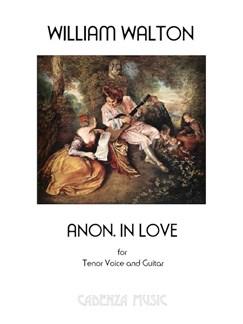 William Walton: Anon. In Love Books   Tenor, Classical Guitar, Guitar