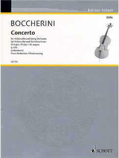 Luigi Boccherini: Concerto In D For Cello And String Orchestra G.479 (Cello/Piano) Books | Cello, Piano Accompaniment