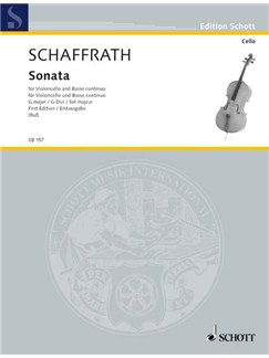 Christoph Schaffrath: Sonata For Cello and Continuo In G Books | Cello, Piano Accompaniment