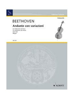 Ludwig van Beethoven: Andante Con Variazioni Books | Cello, Piano Accompaniment