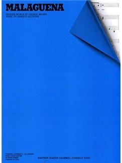 Ernesto Lecuona: Malaguena (PVG) Libro | Piano, Voz y Guitarra(Pentagramas )