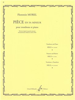 Florentin Morel: Pièce In F Minor For Trombone Books | Trombone, Piano Accompaniment
