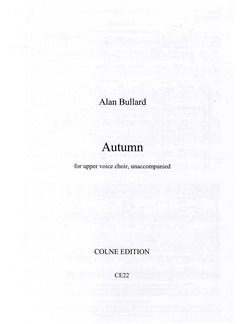 Alan Bullard: Autumn Books   SSA