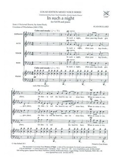 Alan Bullard: In Such A Night Books | SATB, Piano Accompaniment