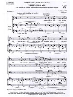 Alan Bullard: Grace Be Unto You Books | SA(B), Piano or Organ Accompaniment