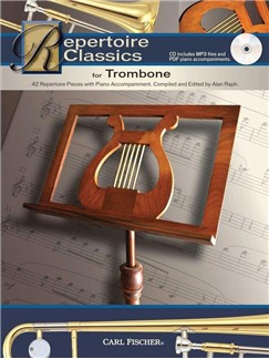 Repertoire Classics For Trombone (Book/CD) Books and CDs | Trombone, Piano Accompaniment