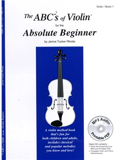 Janice Tucker Rhoda: The ABC's Of Violin Book 1 - Absolute Beginner Books and CDs | Violin