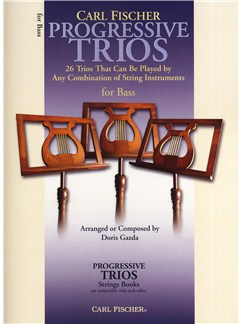 Progressive Trios - 26 Trios For Any Combination Of String Instruments (Bass) Books | Double Bass
