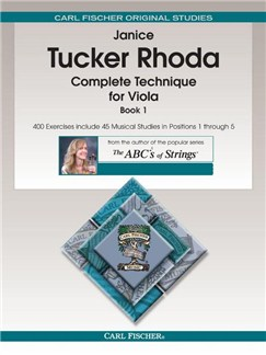 Janice Tucker Rhoda: Complete Technique For Viola - Book 1 Books | Viola