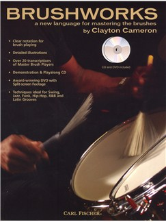 Clayton Cameron: Brushworks (Book/DVD/CD) Books, CDs and DVDs / Videos | Drums