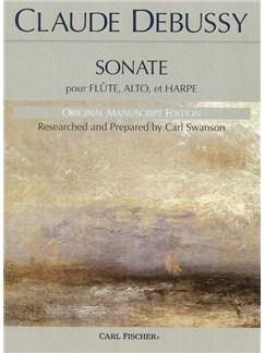 Claude Debussy: Sonate Pour Flute, Alto, Et Harpe Books | Flute, Harp, Viola