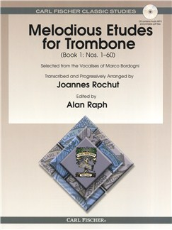 Marco Bordogni: Melodious Etudes For Trombone - Book 1 Books and CDs | Trombone