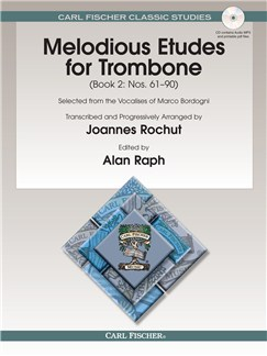 Marco Bordogni: Melodious Etudes For Trombone - Book 2 Books | Trombone
