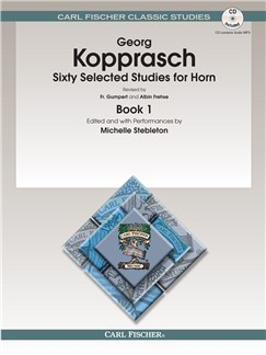 Georg Kopprasch: Sixty Selected Studies For Horn - (Book/Online Audio) Books and Digital Audio | French Horn