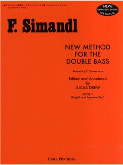Franz Simandl: New Method For The Double Bass Vol.1 Books | Double Bass