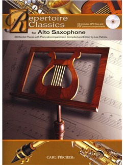 Repertoire Classics - Alto Saxophone Books and CDs | Alto Saxophone, Piano Accompaniment