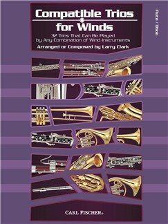 Larry Clark: Compatible Trios For Winds - Flute/Oboe Books | Flute, Oboe