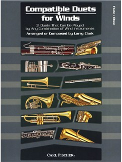 Larry Clark: Compatible Duets For Winds - Flute/Oboe Books | Flute, Oboe