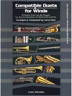 Larry Clark: Compatible Duets For Winds - Alto Saxophone/Baritone Saxophone Books | Alto Saxophone, Baritone Saxophone