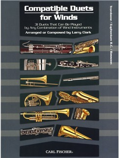 Larry Clark: Compatible Duets For Winds - Trombone/B.C. Euphonium/Bassoon Books | Trombone, Euphonium, Bassoon