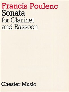 Francis Poulenc:  Sonata For Clarinet And Bassoon Livre | Clarinette, Basson