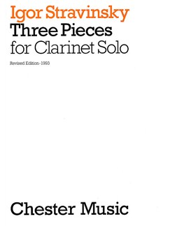 Igor Stravinsky: Three Pieces For Clarinet Solo Books | Clarinet