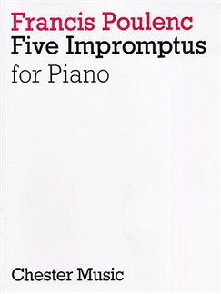 Francis Poulenc: Five Impromptus For Piano Books | Piano