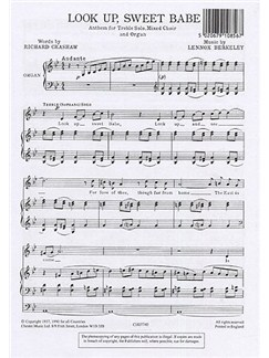 Lennox Berkeley: Look Up Sweet Babe Op.43 No.2 Books | Treble Solo, Soprano, Alto, Tenor, Bass, Organ