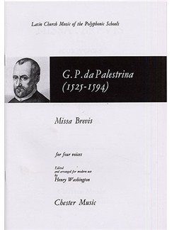 Giovanni Palestrina: Missa Brevis Livre | SATB