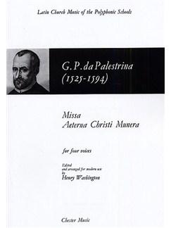 Giovanni Palestrina: Missa Aeterna Christi Munera Books | Soprano, Alto, Tenor, Bass