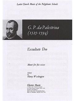 Giovanni Palestrina: Exsultate Deo Books | Soprano, 2 Alto, Tenor, Bass