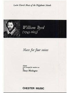William Byrd: Mass For Four Voices Books | Soprano, Alto, Tenor, Bass