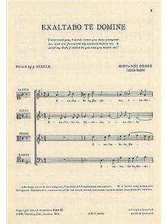 Giovanni Croce: Exaltabo Te Domine Books | Soprano, Alto, Tenor, Bass