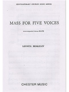 Lennox Berkeley: Mass For Five Voices Op.64 Buch | SATB (Gemischter Chor)