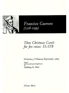 Francisco Guerrero: Three Christmas Carols For Five Voices Books | 2 Soprano, Alto, Tenor, Bass