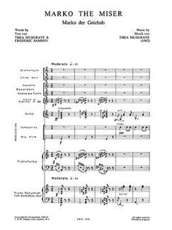 Musgrave, Thea Morko The Mister Score And Parts Buch | Ensemble
