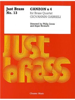 Giovanni Gabrieli: Canzon - Brass Quartet (Just Brass No.13) Books | Brass Quintet