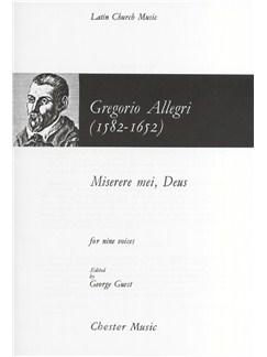 Gregorio Allegri: Miserere Mei, Deus Libro | SATB