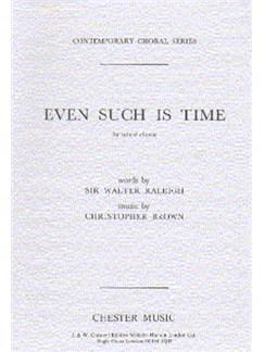 Brown: Even Such Is Time Books | Soprano, Alto, Tenor, Bass