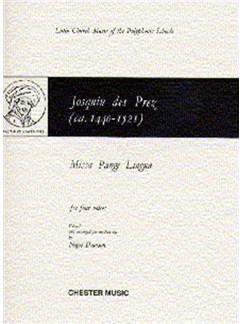 Des Prez: Missa Pange Lingua Livre | SATB, Accompagnement Piano