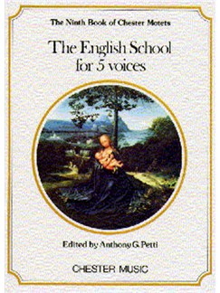 The Chester Book Of Motets Vol. 9: The English School For 5 Voices Books | 2 Soprano, Alto, Tenor, Bass