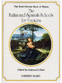 The Chester Book Of Motets Vol. 10: The Italian And Spanish Schools For 5 Voices Books | 2 Soprano, Alto, Tenor, Bass